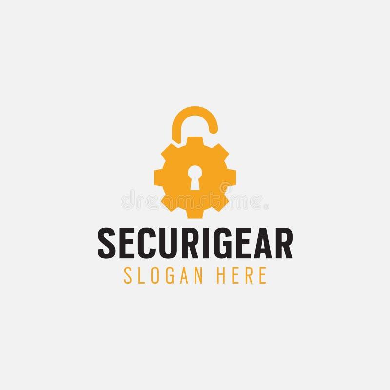Διάνυσμα προτύπων σχεδίου λογότυπων εργαλείων ασφάλειας που απομονώνεται διανυσματική απεικόνιση