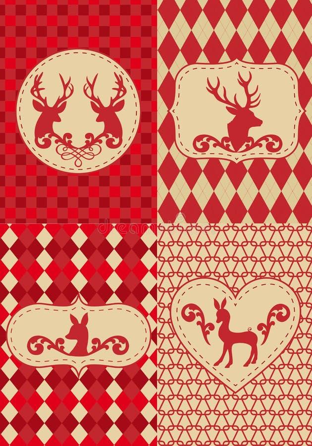 διάνυσμα προτύπων deers Χριστο& διανυσματική απεικόνιση