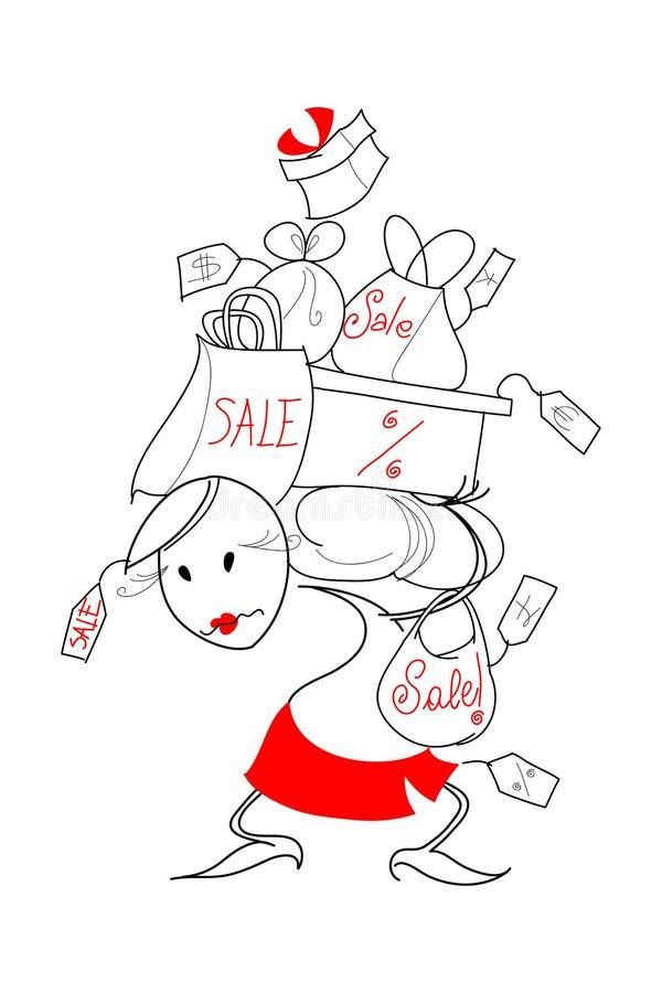 διάνυσμα πωλήσεων απεικό&n διανυσματική απεικόνιση