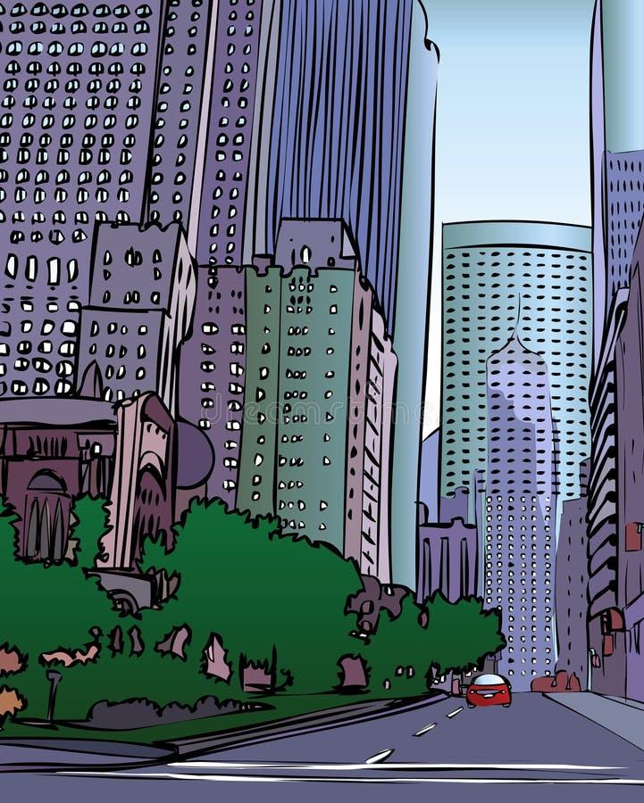 Download διάνυσμα πόλεων διανυσματική απεικόνιση. εικονογραφία από γραφείο - 1526971