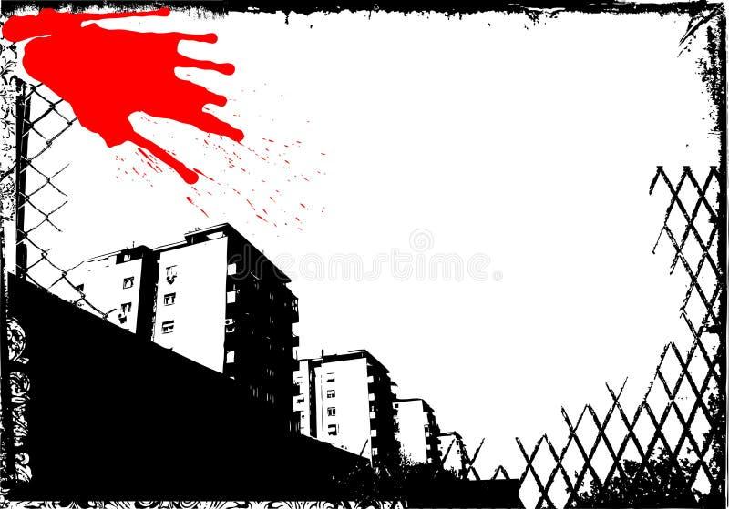 διάνυσμα πόλεων grunge ελεύθερη απεικόνιση δικαιώματος