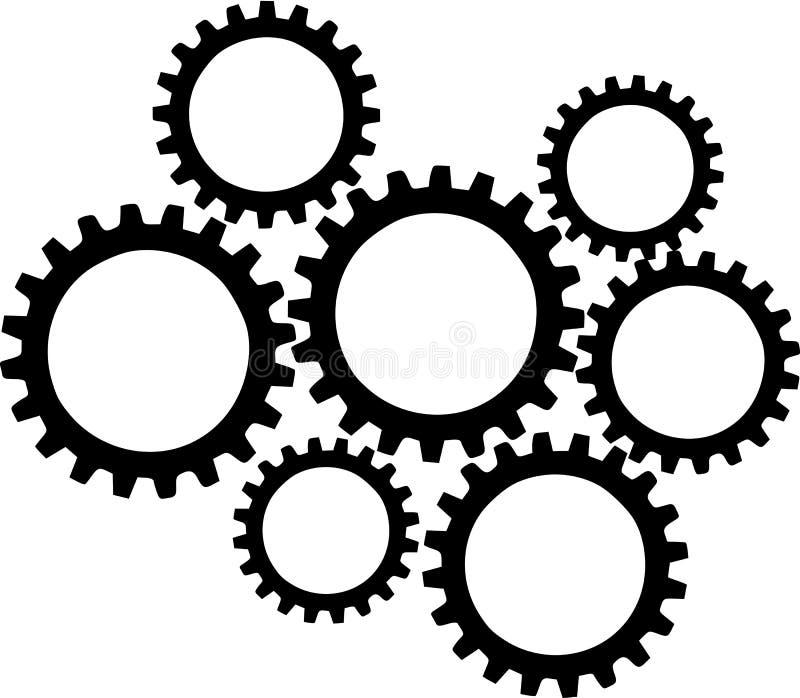 Διάνυσμα ροδών εργαλείων διανυσματική απεικόνιση