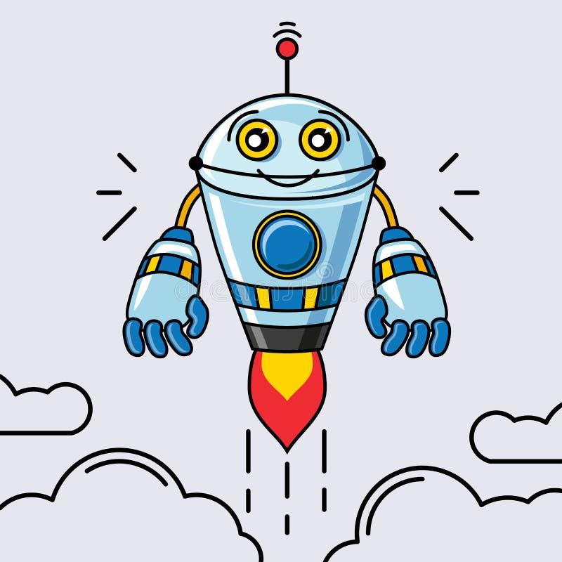 Διάνυσμα ρομπότ ελεύθερη απεικόνιση δικαιώματος