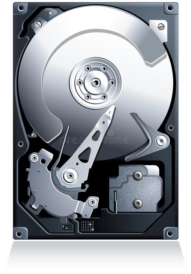 Διάνυσμα ρυθμιστή HDD σκληρών δίσκων απεικόνιση αποθεμάτων
