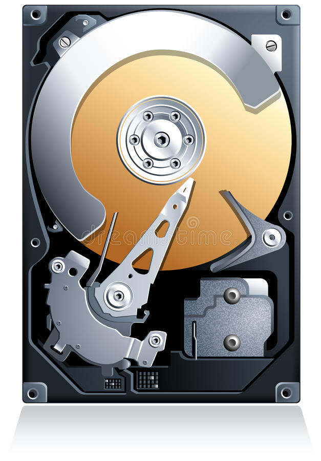 Διάνυσμα ρυθμιστή HDD σκληρών δίσκων ελεύθερη απεικόνιση δικαιώματος