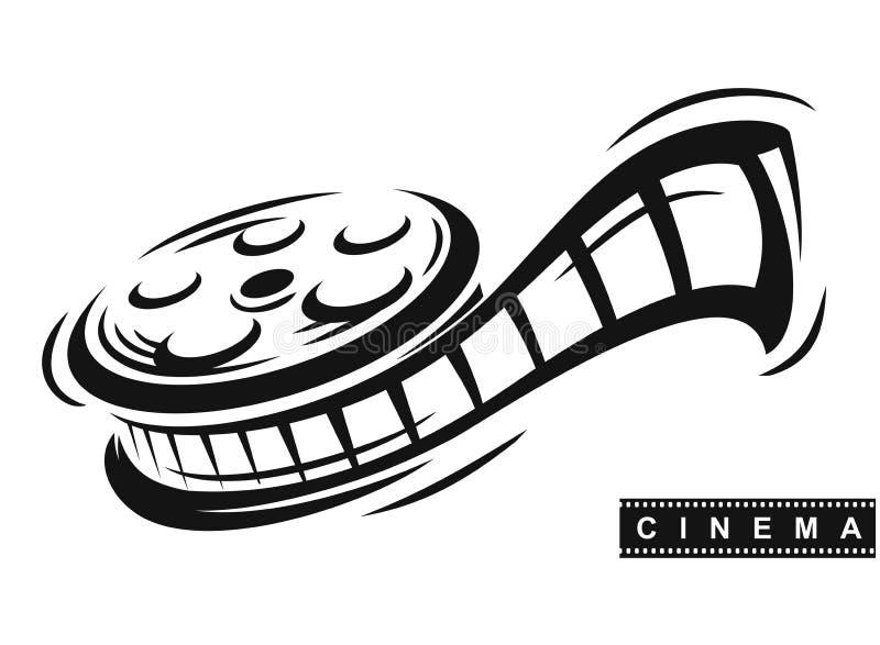 Διάνυσμα ρόλων ταινιών διανυσματική απεικόνιση