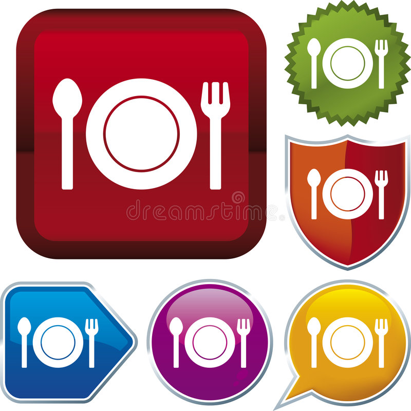 διάνυσμα σειράς εικονιδίων τροφίμων απεικόνιση αποθεμάτων