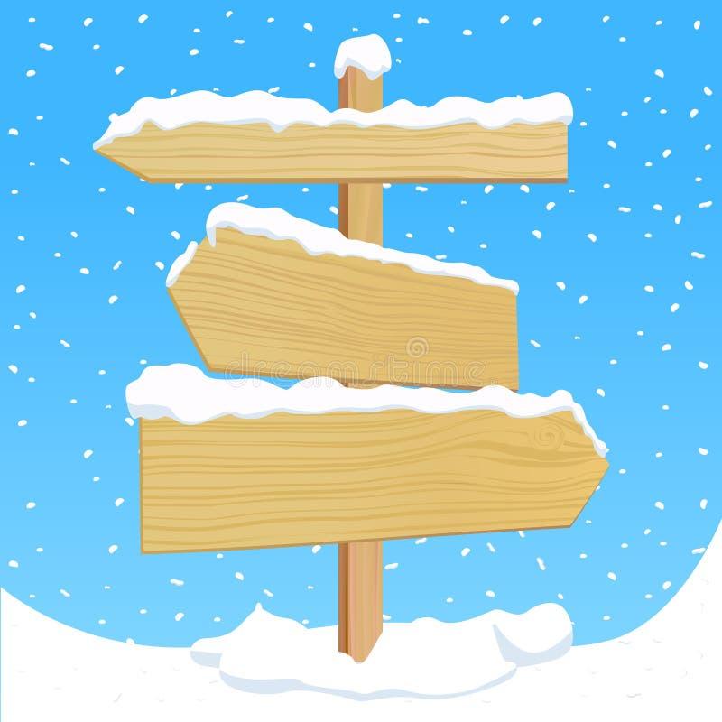 διάνυσμα σημαδιών ξύλινο διανυσματική απεικόνιση