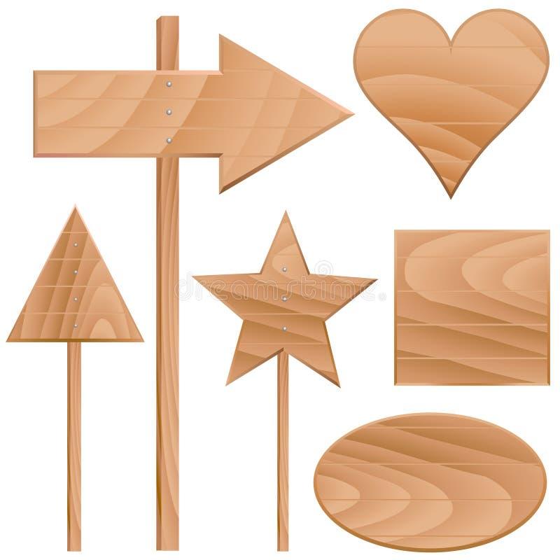 διάνυσμα σημαδιών ξύλινο απεικόνιση αποθεμάτων