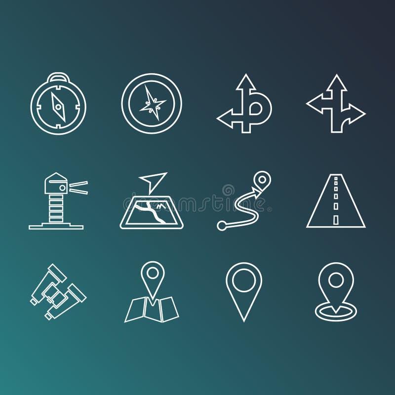 Διάνυσμα σημαδιών οδών απεικόνιση αποθεμάτων