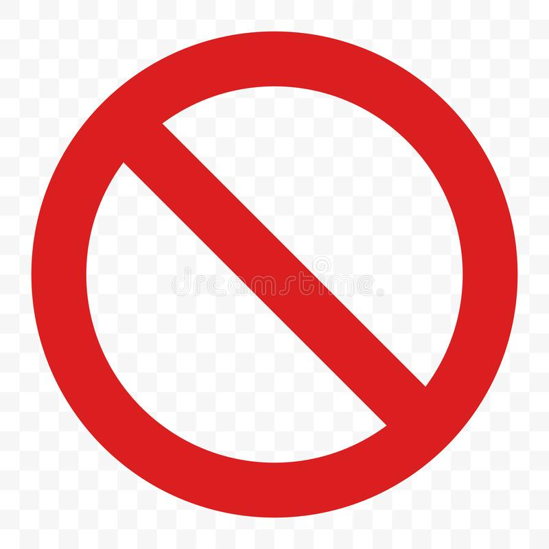 Διάνυσμα σημαδιών στάσεων κανένα πέρασμα εισόδων που προειδοποιεί το κόκκινο εικονίδιο ελεύθερη απεικόνιση δικαιώματος
