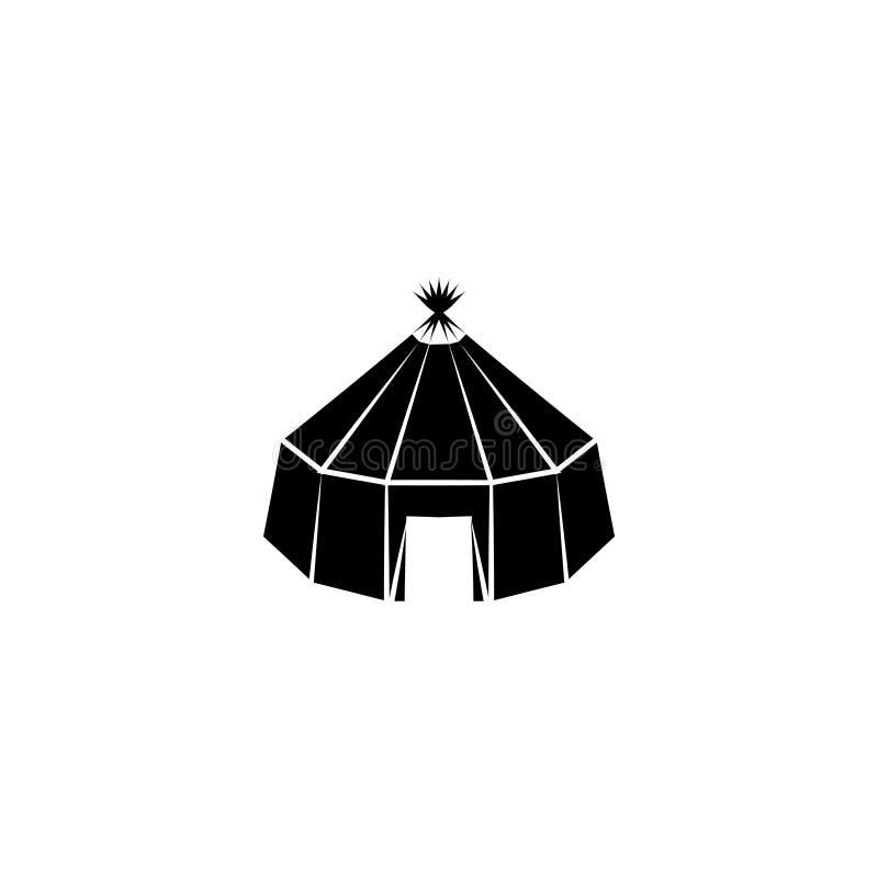 Διάνυσμα σημαδιών συμβόλων Yurt ελεύθερη απεικόνιση δικαιώματος