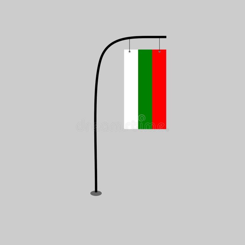 Διάνυσμα σημαιών της Βουλγαρίας απεικόνιση αποθεμάτων