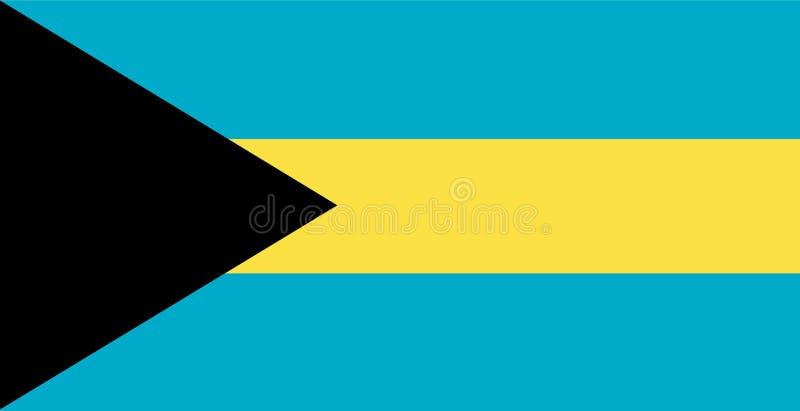 διάνυσμα σημαιών των Μπαχαμών Απεικόνιση της σημαίας των Μπαχαμών διανυσματική απεικόνιση
