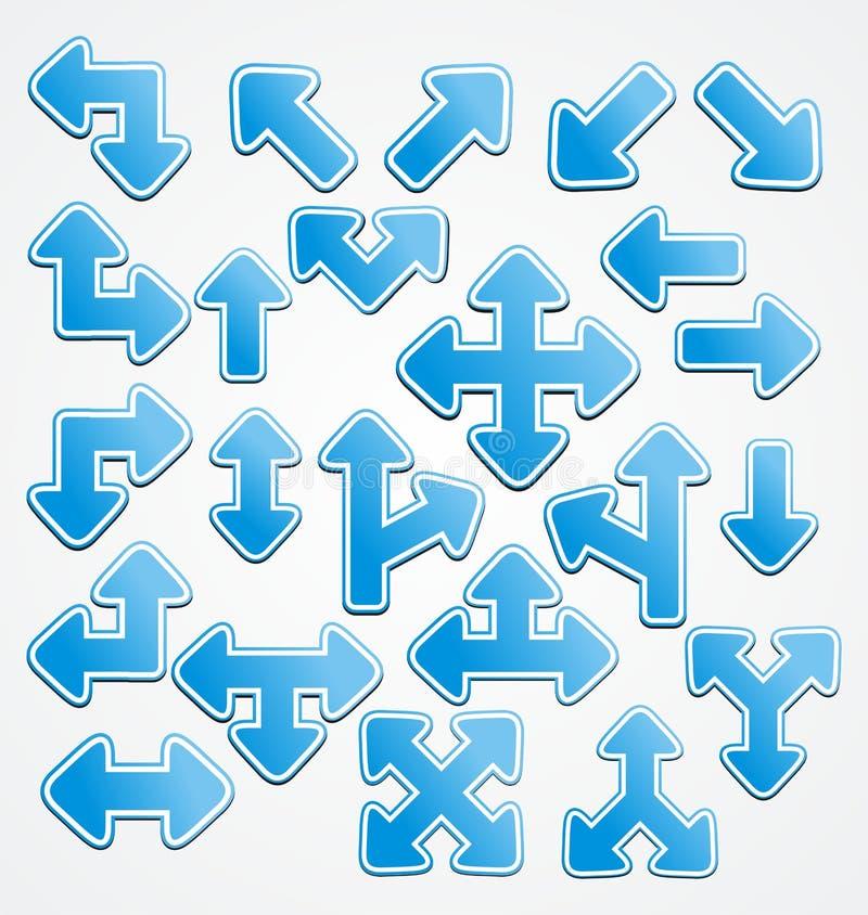 Διάνυσμα σημαδιών βελών απεικόνιση αποθεμάτων