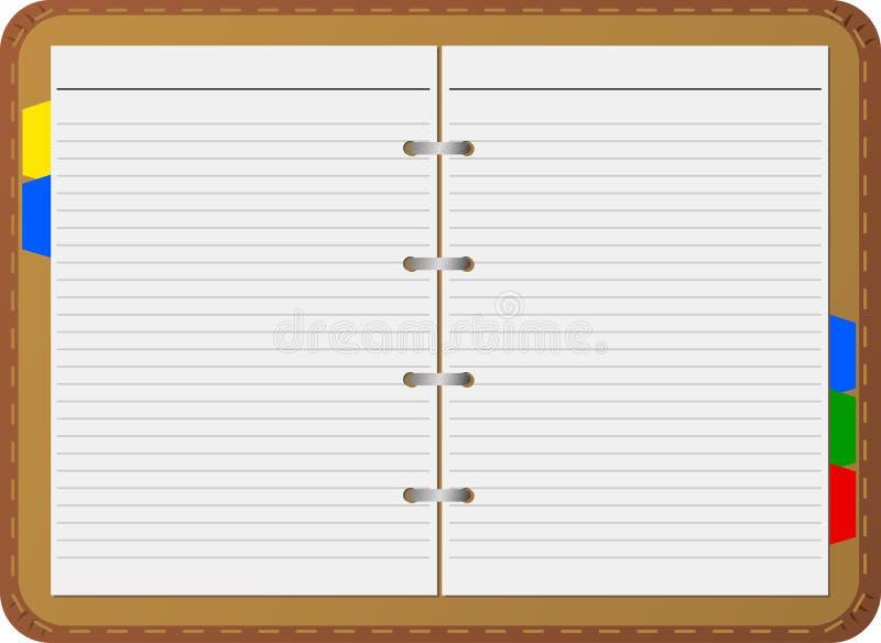 διάνυσμα σημειωματάριων ελεύθερη απεικόνιση δικαιώματος