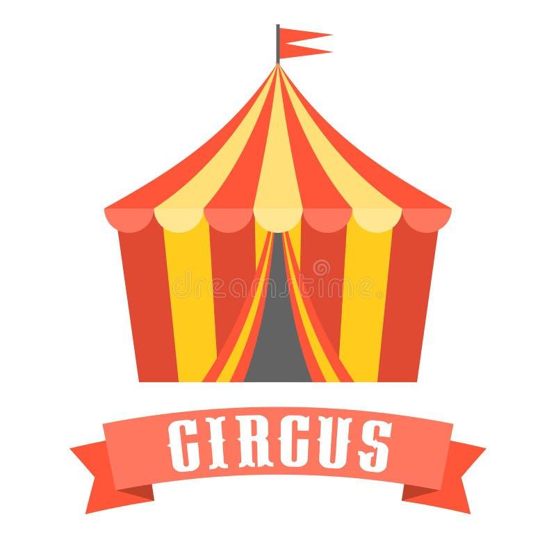 Διάνυσμα σκηνών τσίρκων ελεύθερη απεικόνιση δικαιώματος