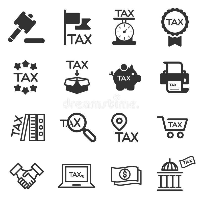 Διάνυσμα σκιαγραφιών φορολογικών εικονιδίων στοκ φωτογραφία με δικαίωμα ελεύθερης χρήσης