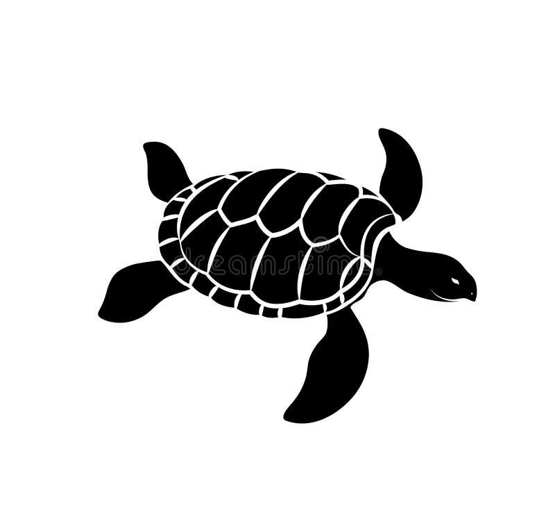 Διάνυσμα σκιαγραφιών χελωνών ελεύθερη απεικόνιση δικαιώματος