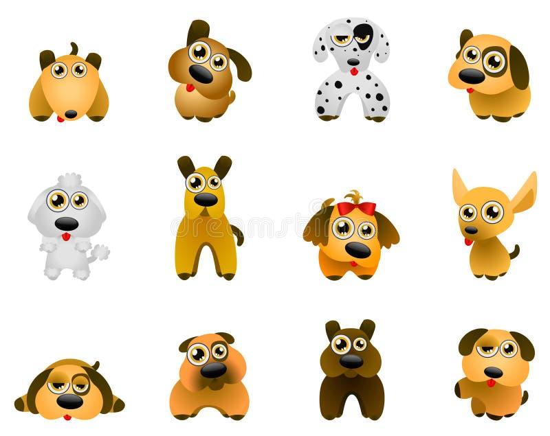 διάνυσμα σκυλιών ελεύθερη απεικόνιση δικαιώματος