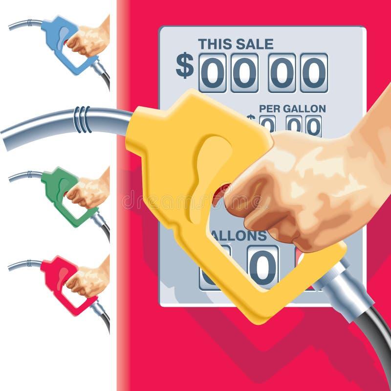 διάνυσμα σταθμών ανεφοδιασμού σε καύσιμα μανικών αερίου μετρητών ελεύθερη απεικόνιση δικαιώματος
