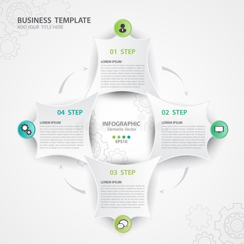 Διάνυσμα στοιχείων Infographic για την επιχείρηση, σχέδιο Ιστού, πολύγωνο, διάγραμμα, διάγραμμα, υπόδειξη ως προς το χρόνο απεικόνιση αποθεμάτων