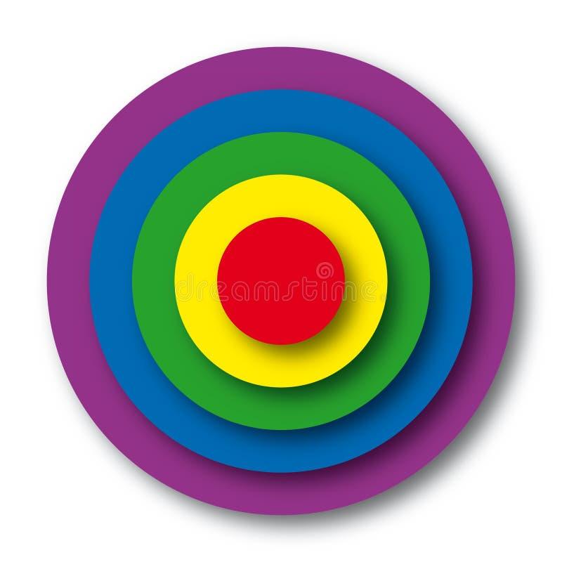 διάνυσμα στόχων χρωμάτων διανυσματική απεικόνιση