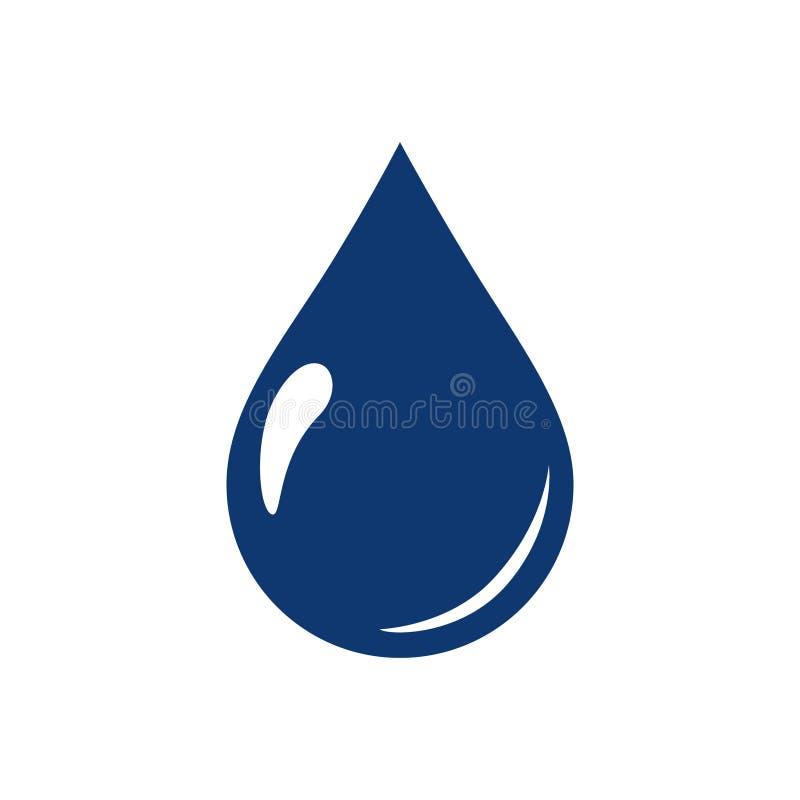 Διάνυσμα συμβόλων εικονιδίων πτώσεων νερού Οικολογικό εικονίδιο νερού για ιστοσελίδας Περιβάλλον Aqua ή απλός σταγόνων βροχής φύσ διανυσματική απεικόνιση