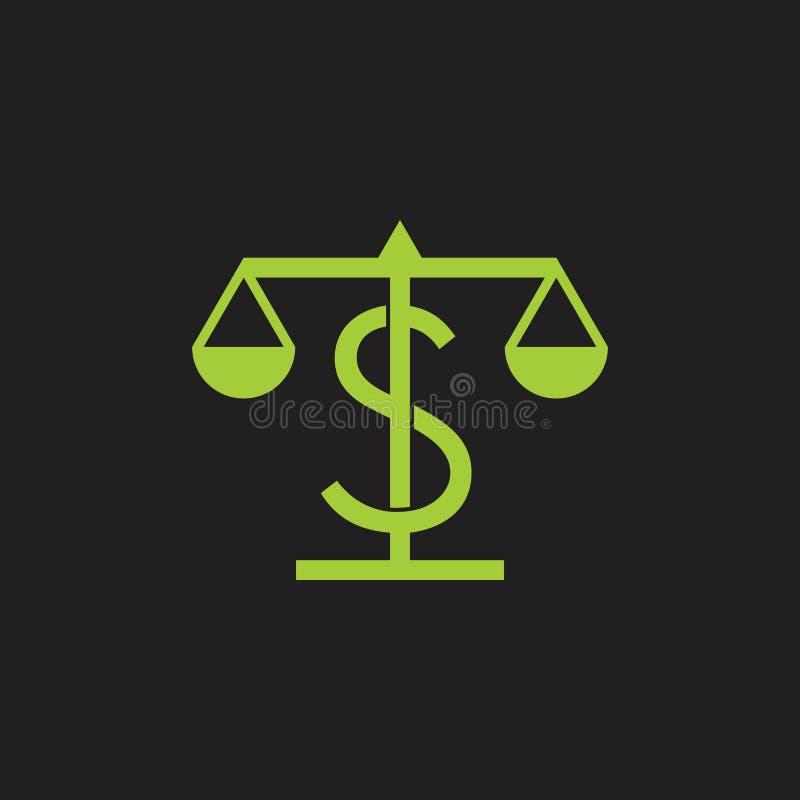 Διάνυσμα συμβόλων σχεδίου κλίμακας ύψους ισορροπίας χρημάτων διανυσματική απεικόνιση
