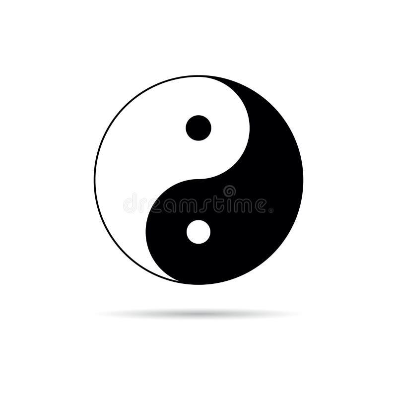 Διάνυσμα συμβόλων Yin yang διανυσματική απεικόνιση