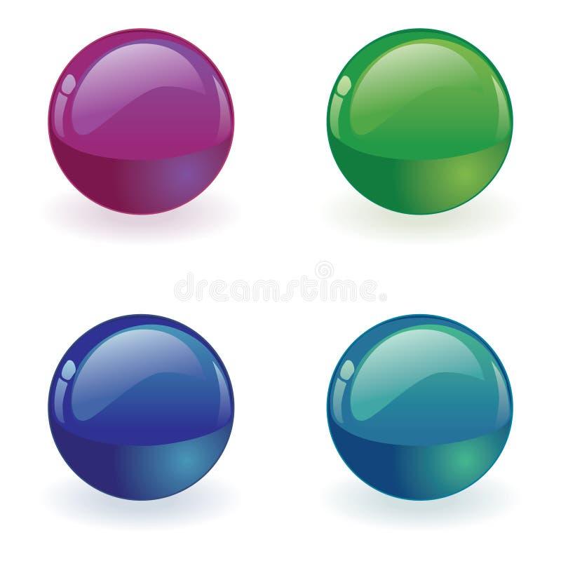 διάνυσμα σφαιρών κουμπιών διανυσματική απεικόνιση