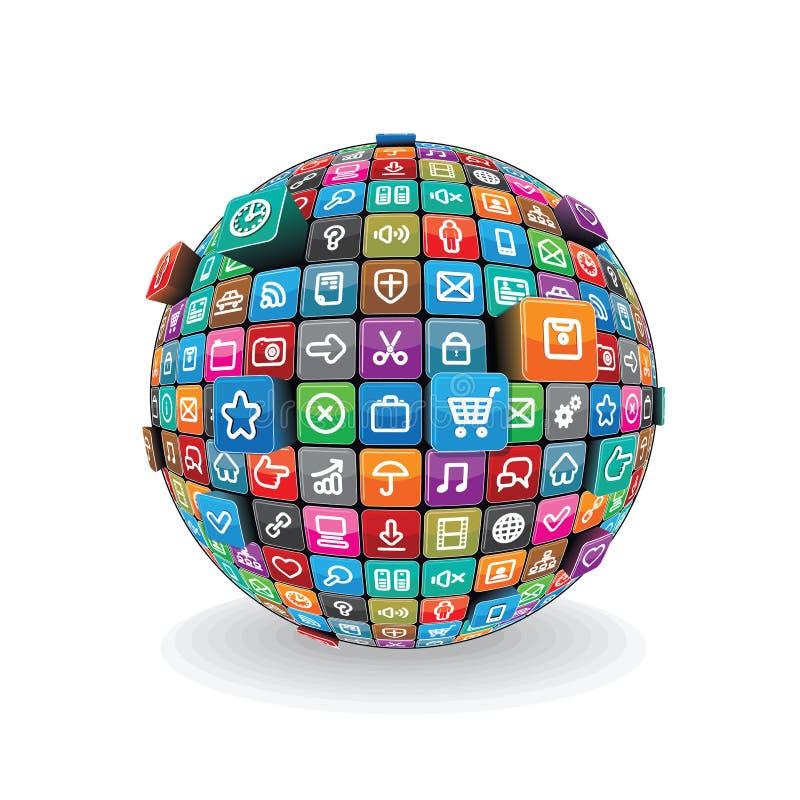 Διάνυσμα σφαιρών Apps διανυσματική απεικόνιση
