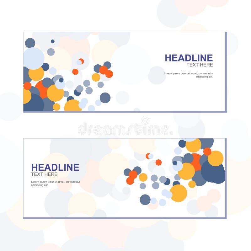 Διάνυσμα - σχεδίου αφηρημένο πρότυπο/γραφικός ή ιστοχώρος επιχειρησιακών εμβλημάτων κύκλων ζωηρόχρωμο απεικόνιση αποθεμάτων
