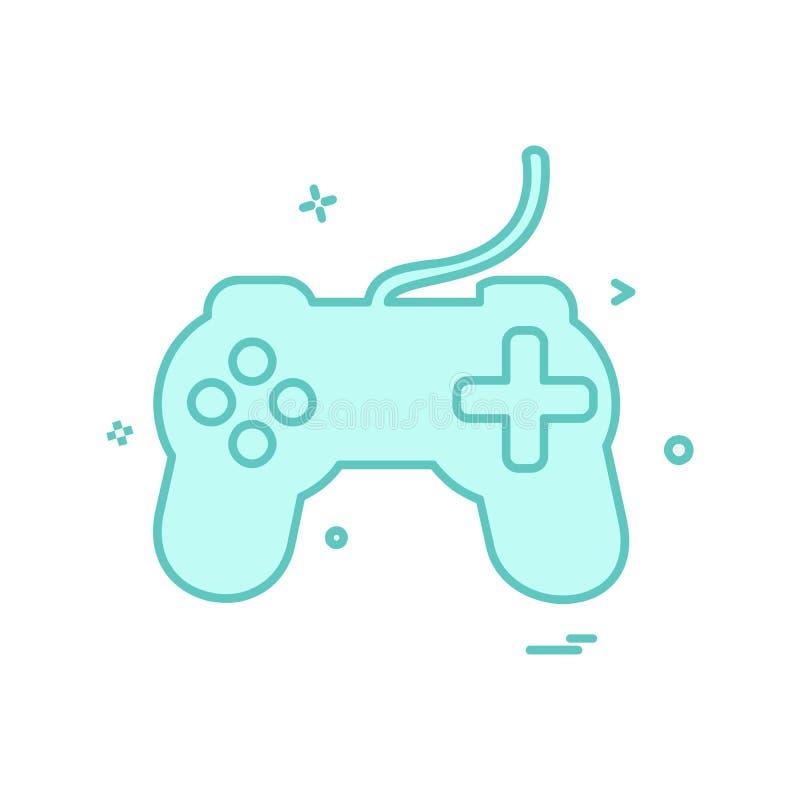 Διάνυσμα σχεδίου εικονιδίων ελεγκτών παιχνιδιών διανυσματική απεικόνιση