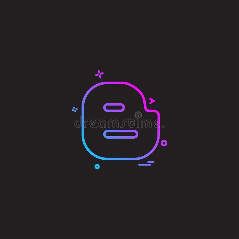 Διάνυσμα σχεδίου εικονιδίων Blogger απεικόνιση αποθεμάτων