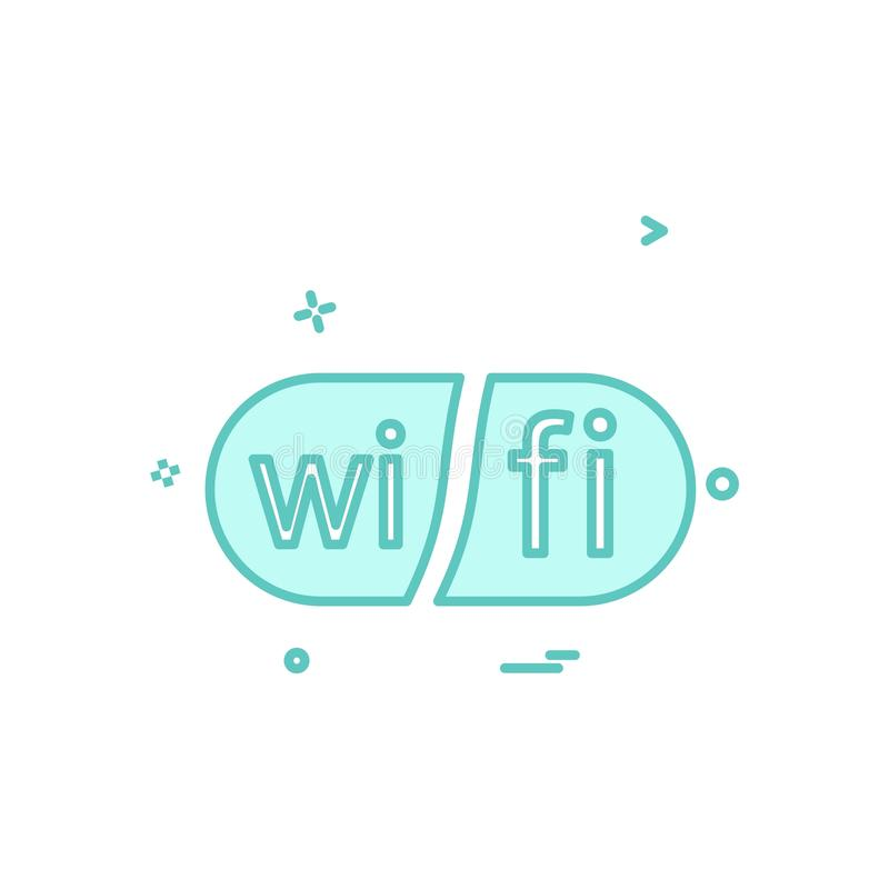 Διάνυσμα σχεδίου εικονιδίων Wifi διανυσματική απεικόνιση