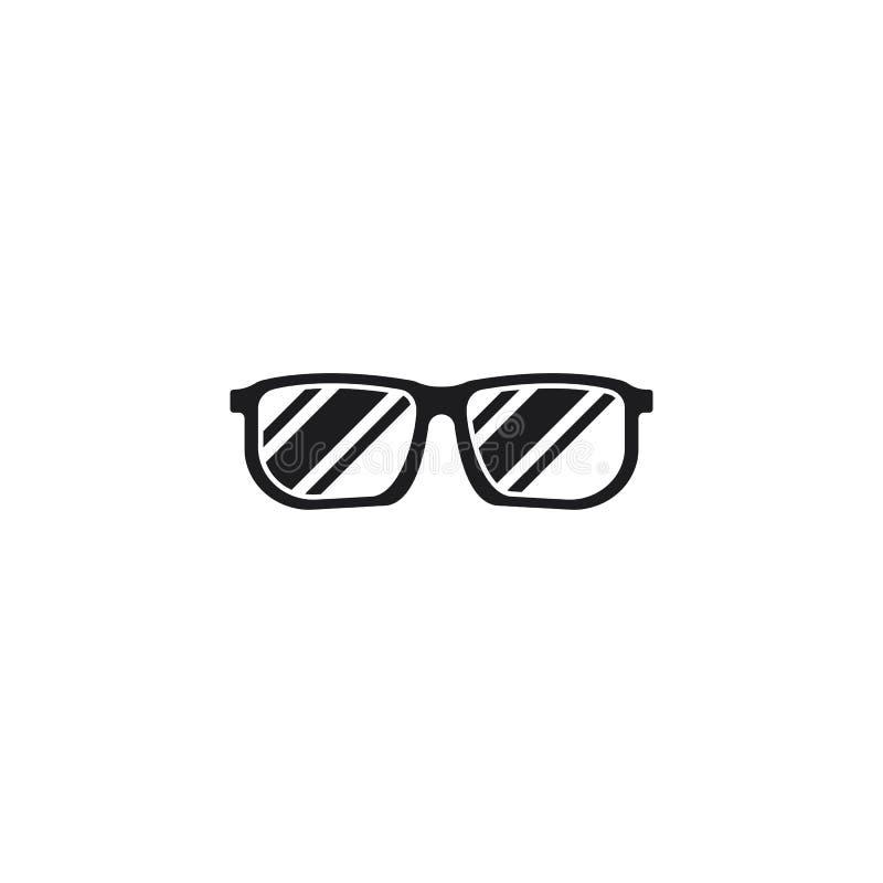 Διάνυσμα σχεδίου λογότυπων γυαλιών απεικόνιση αποθεμάτων