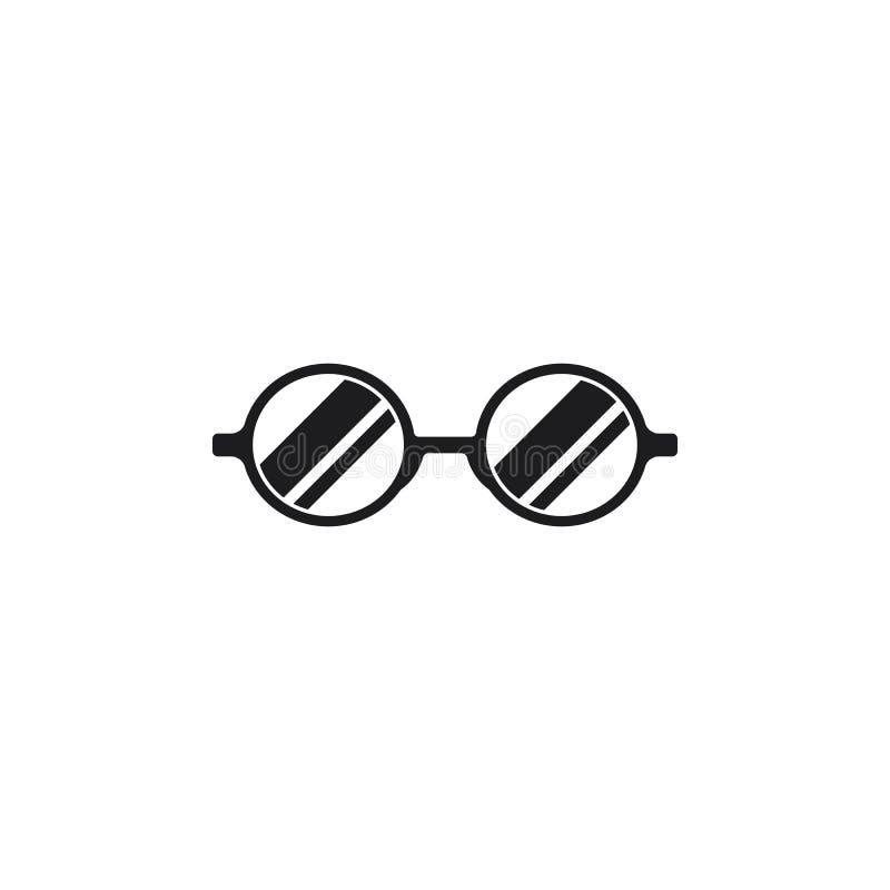 Διάνυσμα σχεδίου λογότυπων γυαλιών ελεύθερη απεικόνιση δικαιώματος