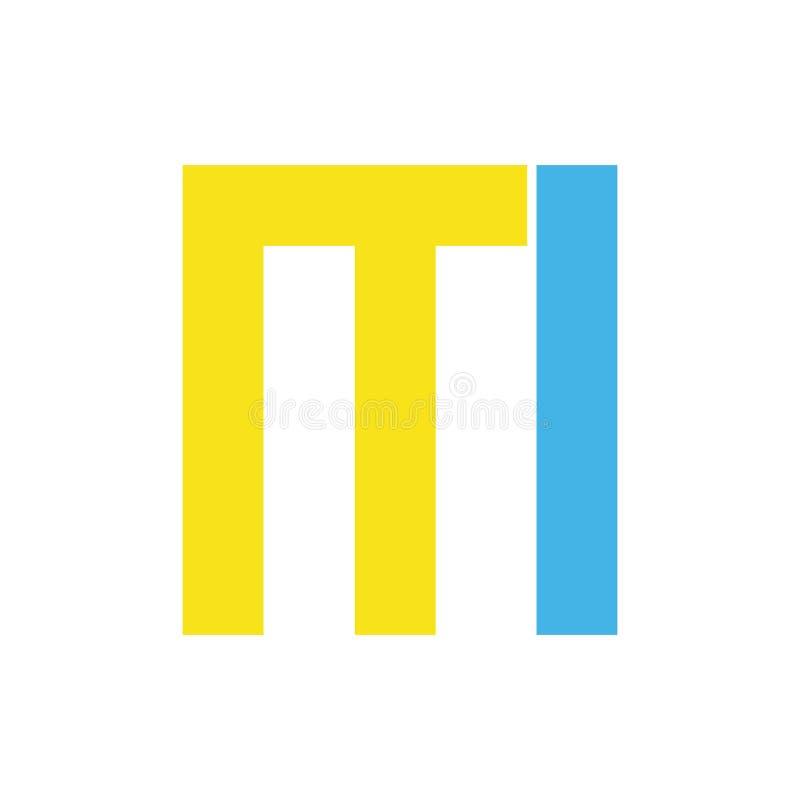 Διάνυσμα σχεδίου λογότυπων επιστολών απεικόνιση αποθεμάτων