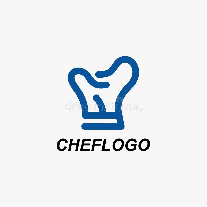 Διάνυσμα σχεδίου λογότυπων εστιατορίων αρχιμαγείρων διανυσματική απεικόνιση