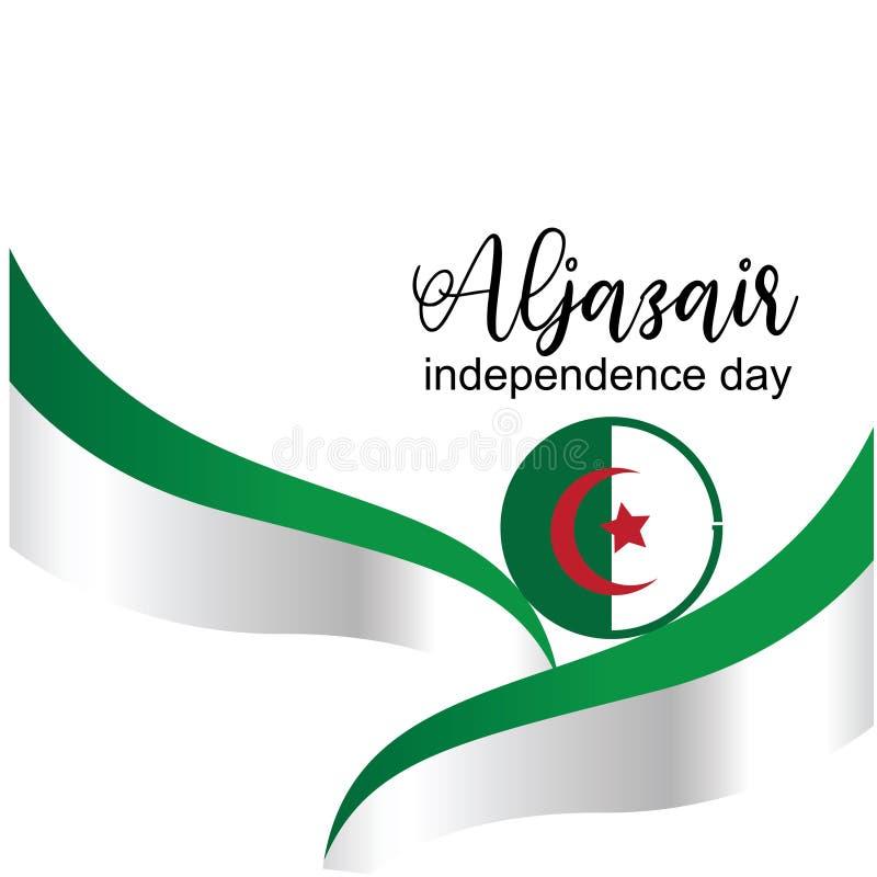 Διάνυσμα σχεδίου λογότυπων ημέρας της ανεξαρτησίας Aljazair - διάνυσμα ελεύθερη απεικόνιση δικαιώματος