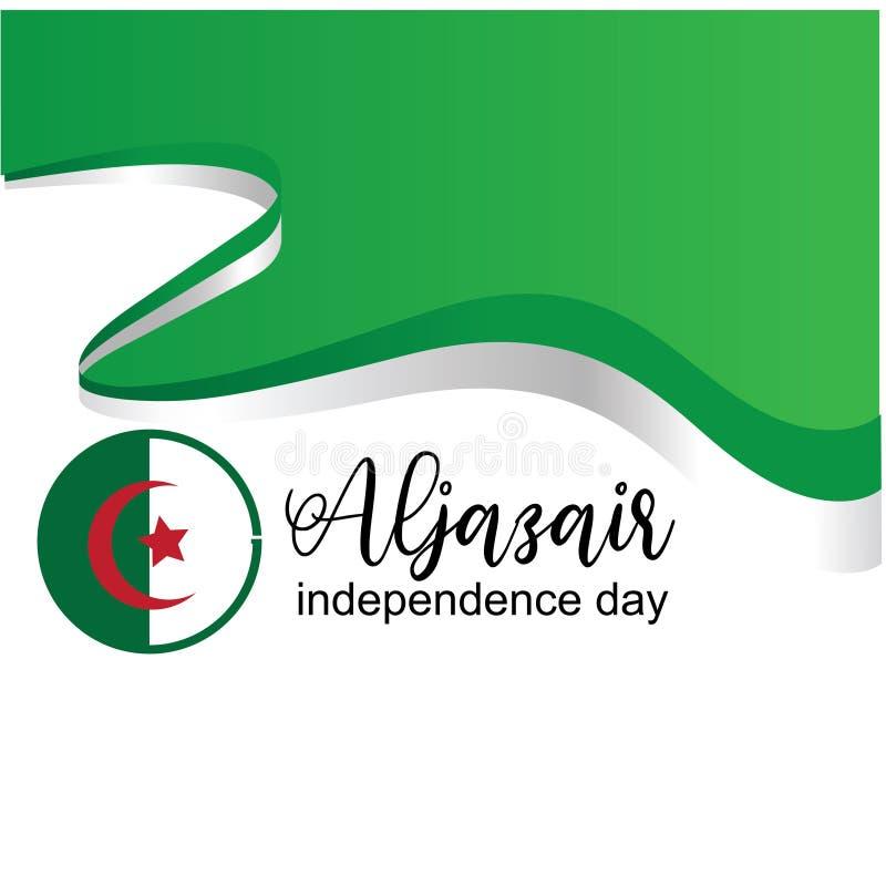 Διάνυσμα σχεδίου λογότυπων ημέρας της ανεξαρτησίας Aljazair - διάνυσμα διανυσματική απεικόνιση