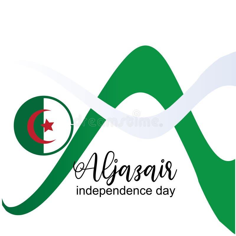 Διάνυσμα σχεδίου λογότυπων ημέρας της ανεξαρτησίας Aljazair - διάνυσμα απεικόνιση αποθεμάτων