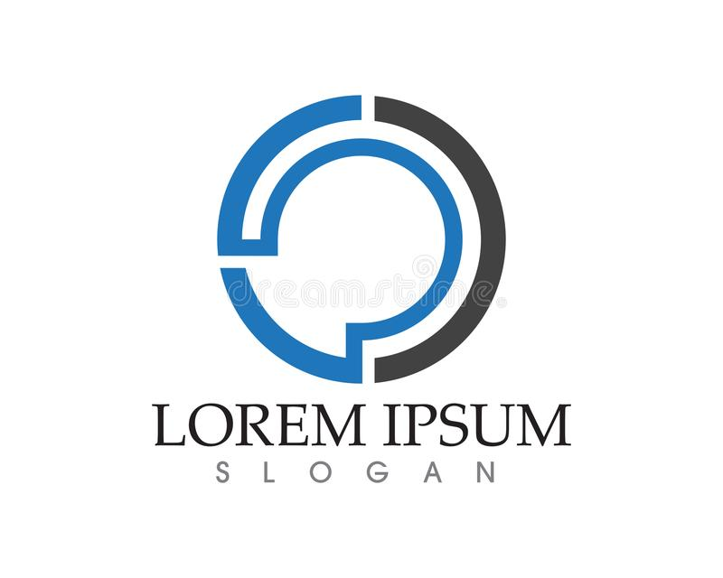 Διάνυσμα σχεδίου προτύπων επιχειρησιακών λογότυπων τεχνολογίας επιστολών Γ απεικόνιση αποθεμάτων