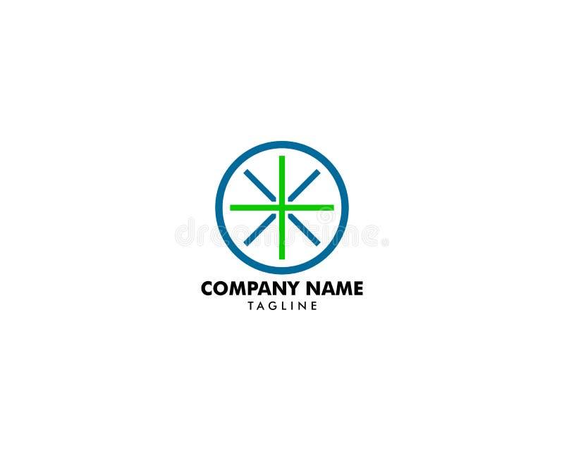 Διάνυσμα σχεδίου προτύπων λογότυπων στόχων υγείας ελεύθερη απεικόνιση δικαιώματος