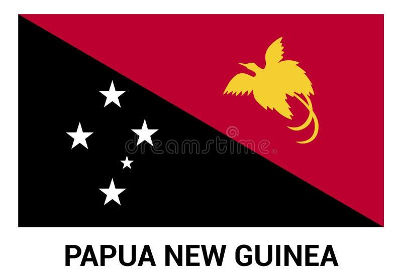 Διάνυσμα σχεδίου σημαιών Παπούα Νέα Γουϊνέα διανυσματική απεικόνιση