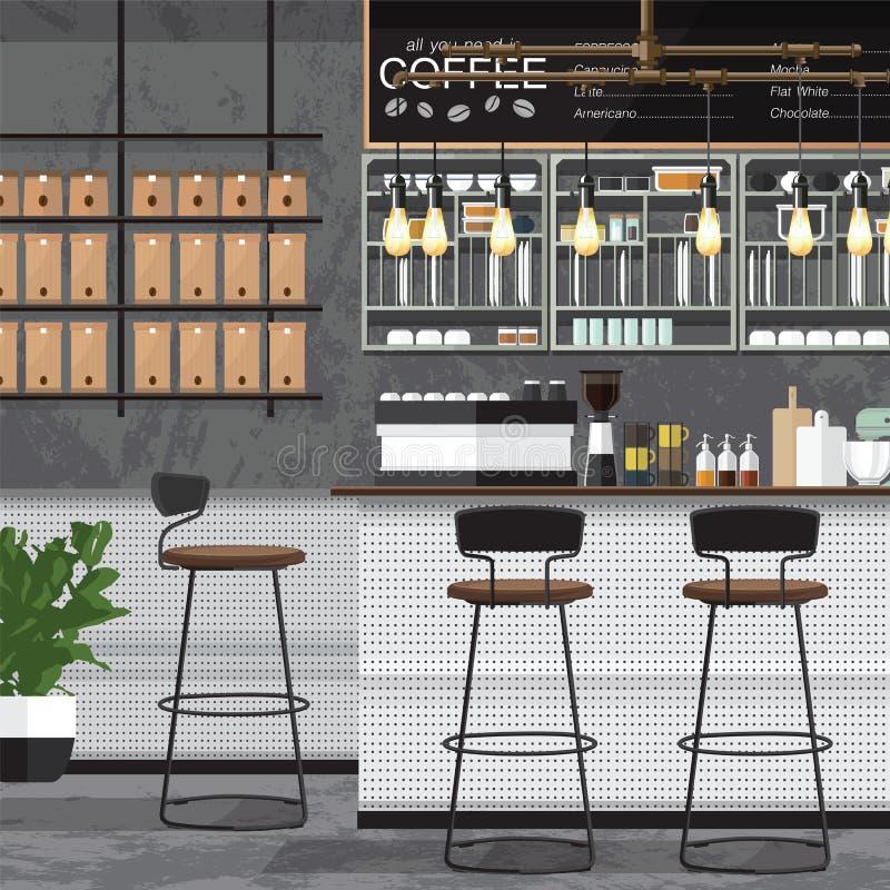 Διάνυσμα σχεδίου καφετεριών ελεύθερη απεικόνιση δικαιώματος