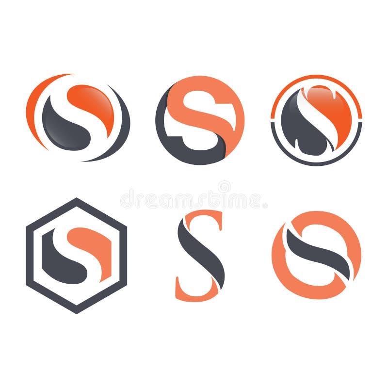 Διάνυσμα σχεδίου λογότυπων επιχειρησιακών εταιρικό γραμμάτων S απεικόνιση αποθεμάτων