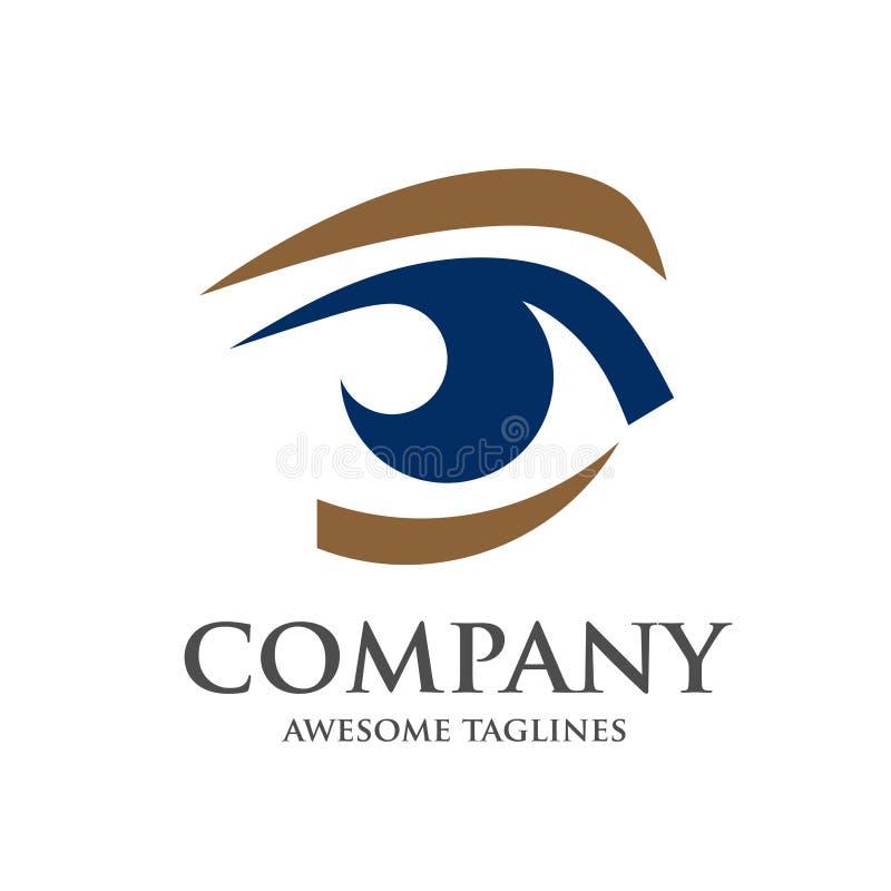 Διάνυσμα σχεδίου λογότυπων ματιών διανυσματική απεικόνιση