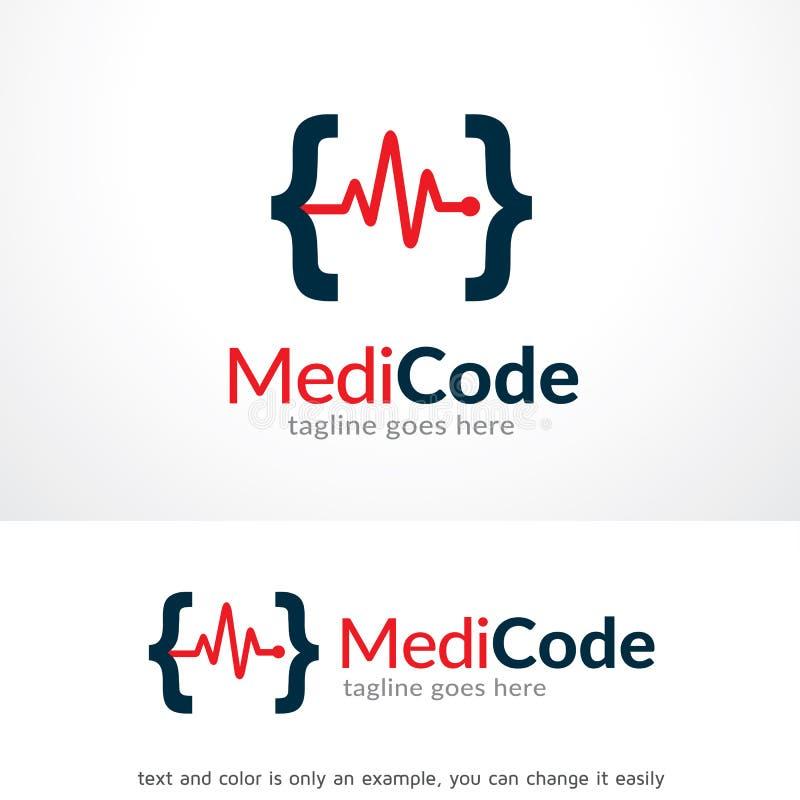 Διάνυσμα σχεδίου προτύπων λογότυπων κώδικα γιατρών ελεύθερη απεικόνιση δικαιώματος